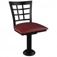 Window Back Bolt Down Swivel Metal Chair