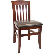 Vertical Slat Beechwood Restaurant Chair