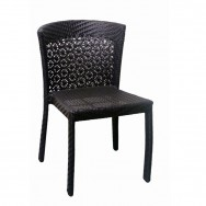 Outdoor Restaurant Chairs. Aluminum Woven Rattan Patio Chair