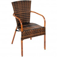 aluminum chair with faux rattan - Outdoor Restaurant Furniture