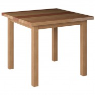 Good Solid Wood Plank Table Top With Wood Legs   Natural Wood Finish