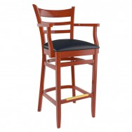 Premium US Made Ladder Back Wood Restaurant Bar Stool With Arms  sc 1 st  Restaurant Furniture & Restaurant Bar Stools \u0026 Commercial Bar Stools for Sale islam-shia.org