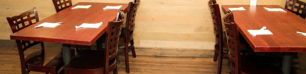 ... Dining Tables Is A Matter Of Research. It Is Crucial To Know How  Materials Compare In Durability, Looks, And Price. Restaurant Tables Are  Made From ...