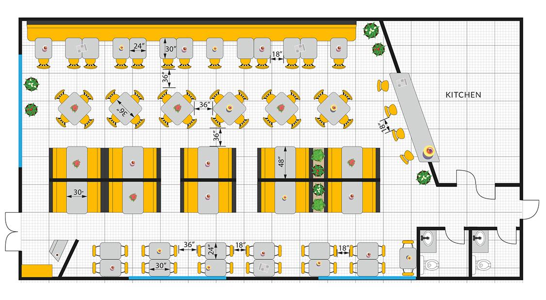 new restaurant floor plan