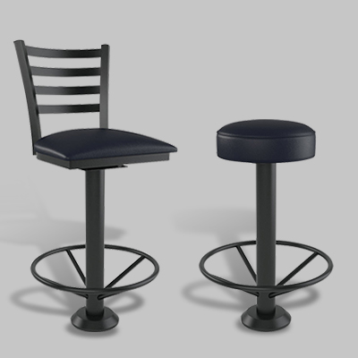 bolt down restaurant bar stools